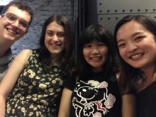 Selfie at Korean BBQ after ABC
