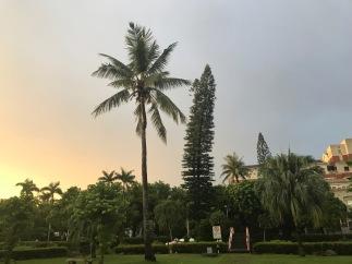 NCKU campus at sunset.