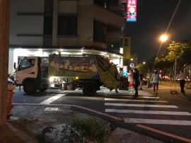 Trash collection in Tainan
