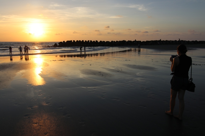 Guosheng Lighthouse Beach in Tainan