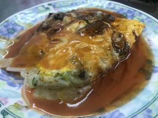 Oyster omelette is a must-try in Tainan