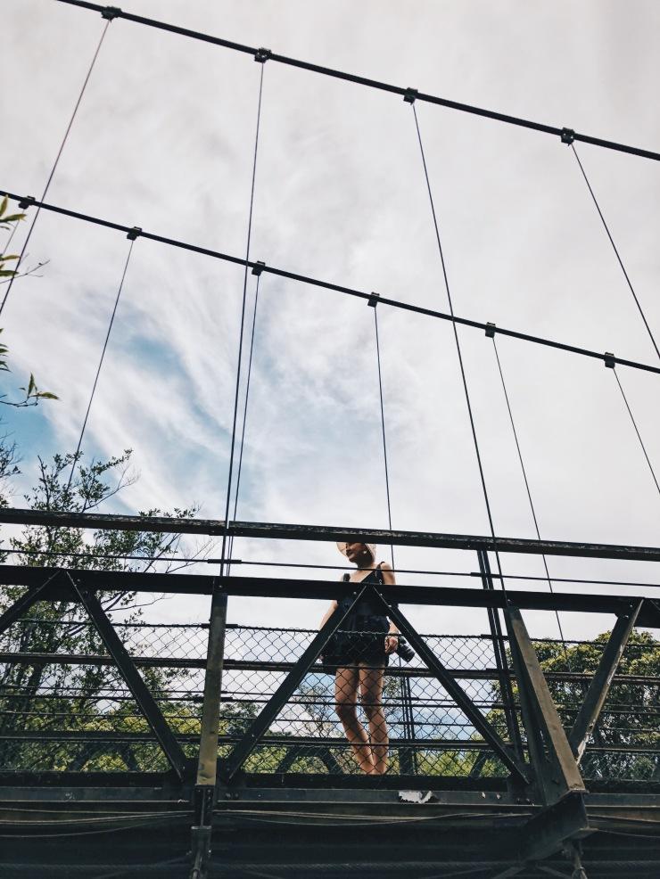 Shifen Waterfall bridge
